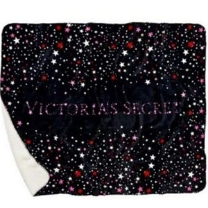 VICTORIA'S SECRET SHERPA STAR GALAXY BLANKET NIB